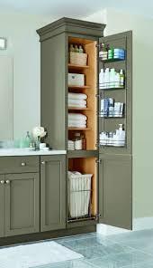a linen closet with four adjustable shelves a chrome door rack