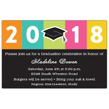 Class Of Girl Graduation Invitations Paperstyle