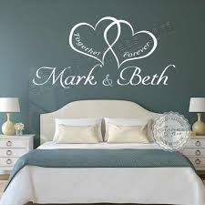 romantic bedroom wall decals. Personalised Bedroom Wall Sticker, Together Forever Romantic Love Quote Decor Decal Decals N