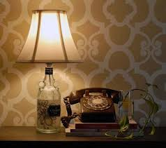 liquor bottle diy lamp