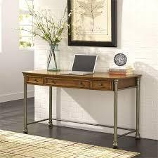 3 drawer wood writing desk in caramel