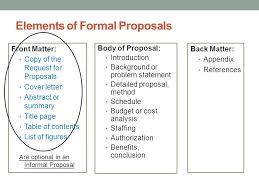 Informal Proposal Custom Proposals And Formal Reports Ppt Download