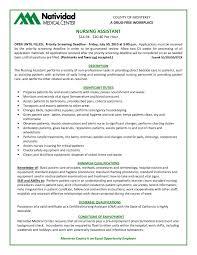 List Of Cna Skills For Resume Resume Template