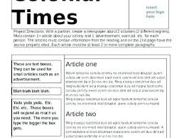 Spoof Newspaper Template Free Free Online Newspaper Template Arianet Co