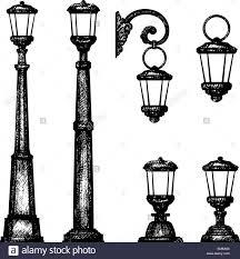 Drawing Street Light Sketch Of Street Light Vector Drawing Stock Vector Art
