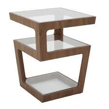 triple level side table walnut loading zoom
