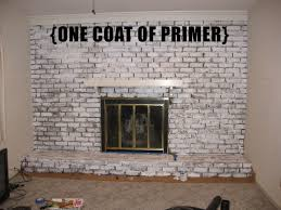 before after painting a brick fireplace