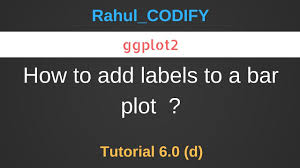 Ggplot2 Bar Chart Labels How To Add Labels To A Bar Plot Using Ggplot2 R Data Science Tutorial 6 0 D