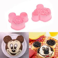 Embossing Craft Diy Pastry Decorating Tools Set 2pcs Mickey Minny