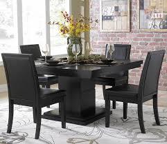 Square Pedestal Kitchen Table Homelegance Cicero Square Pedestal Dining Table In Black Beyond