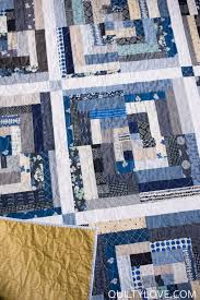 Free Motion Quilting Designs For Log Cabin Scrappy Indigo Log Cabin Quilt Quilty Love