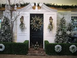 Exterior Door Decorating Exterior Alluring Black Painted Christmas Front Door Decorating