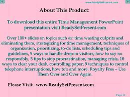 time management powerpoint 13