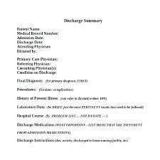 Image Result For Discharge Summary Note Template Of