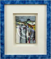 how to frame a painting image of abstract oil painting in mat blue frame bike frame how to frame a painting
