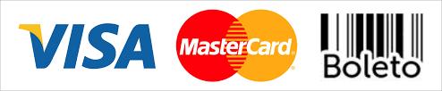 Aceitamos cartões de débito ou crédito e boleto bancário para pessoa jurídica