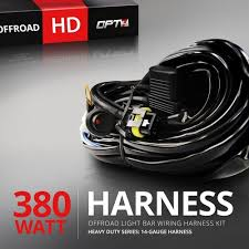 hd led light bar wiring harness off road relay switch amp image 1
