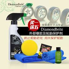 get quotations british diamond color car tire brightener external rubber protective agent polish plating automotive supplies free
