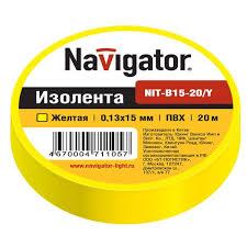 <b>Изолента ПВХ</b> 15 мм желтая NIT-B15-20/Y, цена в Челябинске от ...