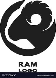 ram logo vector.  Vector Silhouette Of The Ram Monochrome Logo Vector Image And Ram Logo Vector