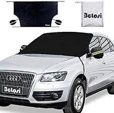 Amazon Com Belosi Car Windshield Snow Cover Double Side Design Sun Shade Protector With Elastic Mirror Covers Dual Secur Small Cars Car Windshield Windshield