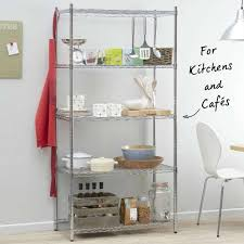 narrow narrow chrome wire shelving unit with 2 x 80 l 4 x 24 l storage boxes