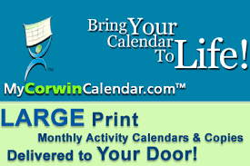 Corwin Design:: Nursing Home Activity Calendars, Online Activity ...