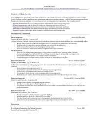 Administrative Assistant Resume Summary Examples