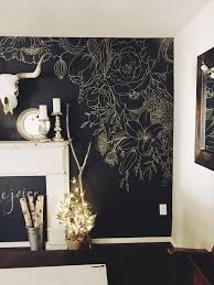 Wallpaper And Paint Living Room Hand Painted Cherry Blossoms On Metallic Gold Wall Pinteres