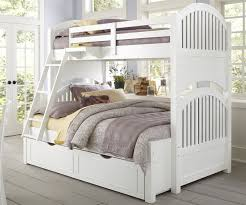 image of white twin over twin bunk bed with trundle