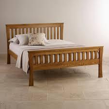 Oak Bedroom Orrick King Size Bed Rustic Solid Oak Oak Furniture Land