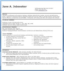 Junior Oracle Dba Resume Samples Oracle Resume Mple For Fresher Ma