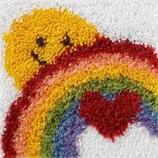 Latch Hook Designs Free Wonderart Latch Hook Kit Sunshine Rainbow