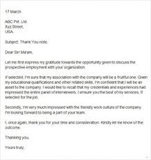 Brilliant Ideas Of Thank You Letter After Job Interview Examples