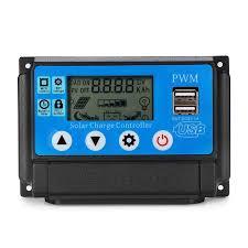 Excellway® 10/20/30/40/50A <b>12V 24V Auto Solar Panel</b> Solar ...