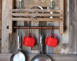 reclaimed wood mug rack urban rustic. Reclaimed Wood Mug Rack Urban Rustic. Handcrafted Shelf, Rustic Modern Decor, Kitchen Storage A