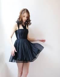 Lbd Designs Lbd By Leanne Marshall Fall 2016 Dress In Black Chiffon My