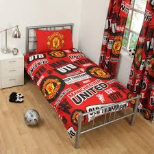 majestic looking man united duvet set team football single accessories