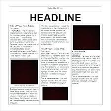 Newspaper Google Docs Template Classroom Newspaper Template Timetoreflect Co