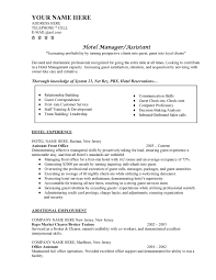 ... Hotel Manager Resume Objective Sample Examples Pertaining To 21  Interesting Entry Level Management Samples ...