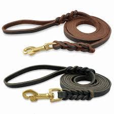 product description real leather dog leash