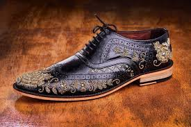 this pune based shoe designer is now making hand embroidered oxford brogues and hand patin finished mocassins