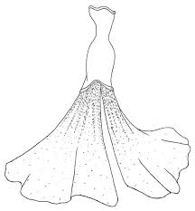 Wedding Dress Coloring Pages To Print 5172 Wedding Dress Coloring