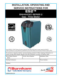 burnham es2 user manual 52 pages