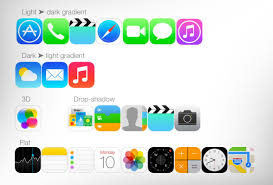 Apple App Icon Design Apple App Icons As Of Ios7 But Most Are The Same In Ios9