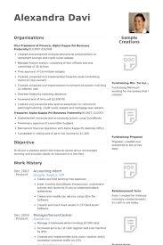 Resume Template Free Accounting Intern Resume Samples Visualcv