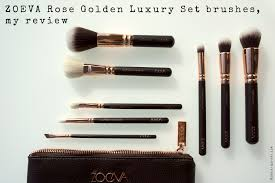 zoeva rose golden luxury set brushes my review