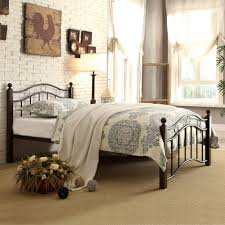 Abigail Brown Metal Platform Bed Multiple Sizes Walmartcom