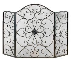 image of wrought iron fireplace screens decorative