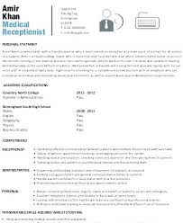 Resume Examples For Receptionist Enchanting Samples Of Receptionist Resumes Free Resume Template Evacassidyme